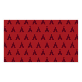 teepee reds business card templates