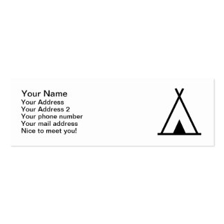 Teepee tent business card