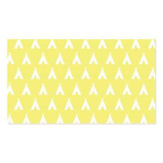 teepee yellow business card templates