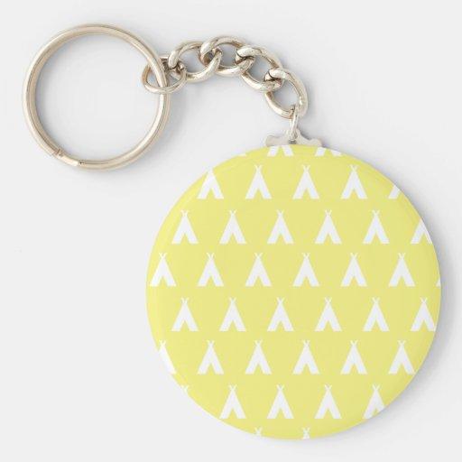 teepee yellow keychains