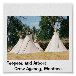 Teepees at Crow Agency, Montana Poster