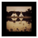 Teepees on the Lake Posters