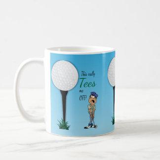 Tees Me Off Golfer Classic White Coffee Mug