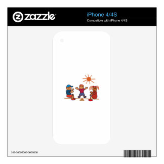 Teeter-Totter Kids Decals For iPhone 4S