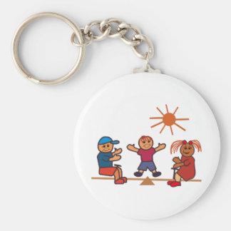 Teeter-Totter Kids Keychain