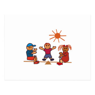 Teeter-Totter Kids Postcard