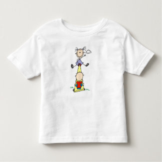 Teeter Totter Stick Figures Toddler T-shirt