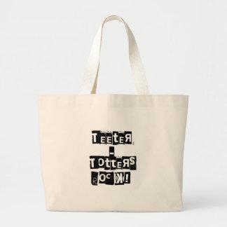 Teeter-Totters Rock Large Tote Bag