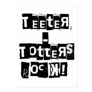 Teeter-Totters Rock Postcard