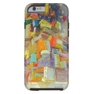 Teetering Stack of Suitcases for iPhone Tough iPhone 6 Case