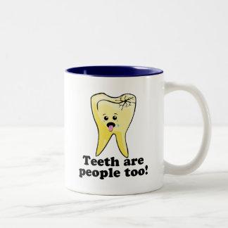 Teeth Are People Too! Two-Tone Coffee Mug