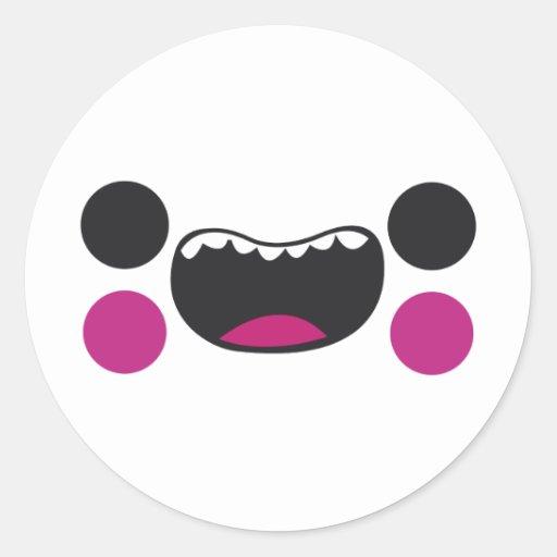 Teeth Face Classic Round Sticker
