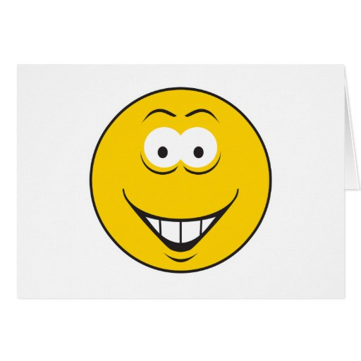 Teeth Smile Smiley Face Greeting Card