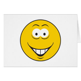 Teeth Smile Smiley Face Greeting Cards
