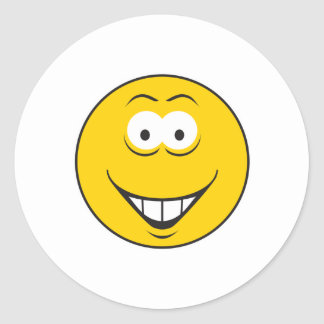 Teeth Smile Smiley Face Round Stickers