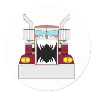 teeth truck classic round sticker