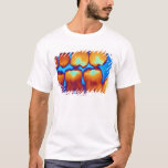 Teeth with fillings (green), coloured X-ray. T-Shirt