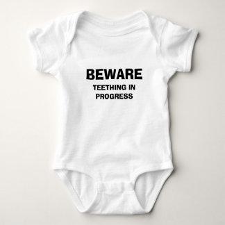 TEETHING IN PROGRESS, BEWARE BABY BODYSUIT