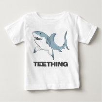 Teething shark infant T Baby T-Shirt