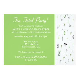 Teetotal / Tea Total custom years sober party Card