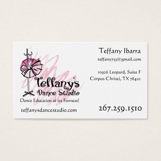 Teffanys dance studio business card custom zazzle teffanys dance studio business card custom colourmoves Image collections