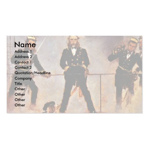 Tegetthoff Admiral At The Battle Of Lissa Business Card Template