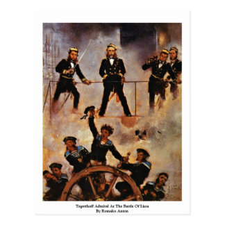Tegetthoff Admiral At The Battle Of Lissa Postcard