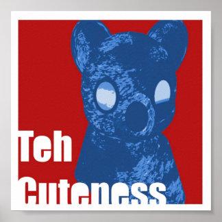 Teh Cuteness Framed Poster