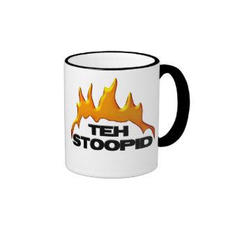 Teh Stoopid Burns Ringer Mug
