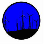 Tehacapi Wind Farm Silhouette (1) Acrylic Cut Outs