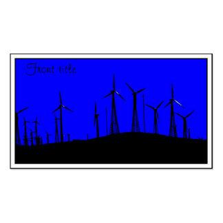 Tehacapi Wind Farm Silhouette (1) Business Card