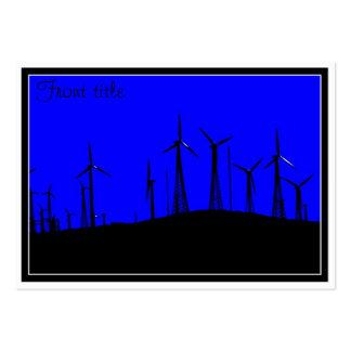 Tehacapi Wind Farm Silhouette (1) Business Card Templates