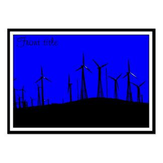 Tehacapi Wind Farm Silhouette (1) Business Card Template