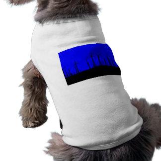 Tehacapi Wind Farm Silhouette 1 Dog Tee Shirt