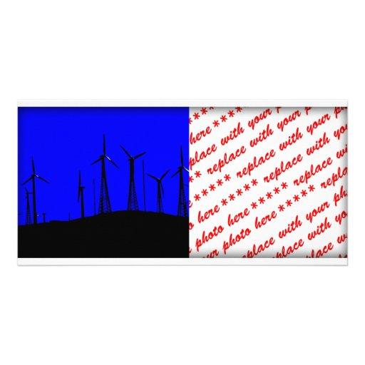 Tehacapi Wind Farm Silhouette (1) Photo Card