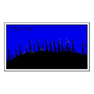 Tehacapi Wind Farm Silhouette (2) Business Cards