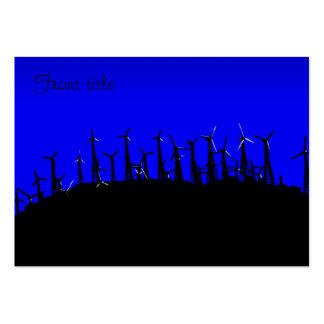 Tehacapi Wind Farm Silhouette (2) Business Card Templates