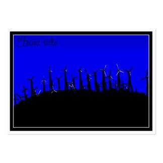 Tehacapi Wind Farm Silhouette (2) Business Card Template