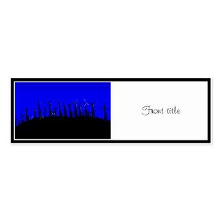 Tehacapi Wind Farm Silhouette (2) Business Card