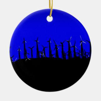 Tehacapi Wind Farm Silhouette 2 Christmas Ornament
