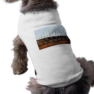 Tehachapi Wind Farm Dog T-shirt