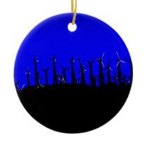 Tehachapi Wind Farm Silhouette Ceramic Ornament