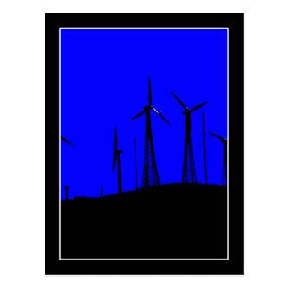 Tehachapi Wind Farm Silhouette Postcard