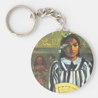 'Tehamana Has Many Ancestors' - Gauguin Keychain