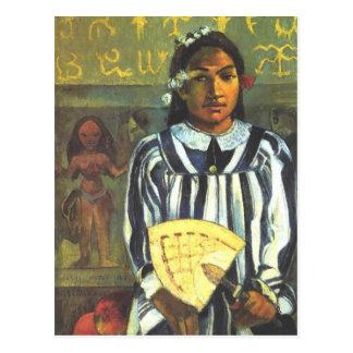 'Tehamana Has Many Ancestors' - Gauguin Postcard