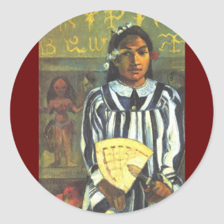 'Tehamana Has Many Ancestors' - Gauguin Sticker