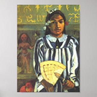 'Tehamana Has Many Ancestors' - Paul Gauguin Print