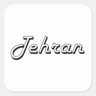 Tehran Iran Classic Retro Design Square Sticker