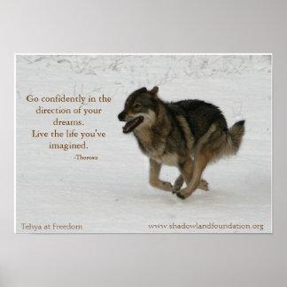 Tehya en el poster de Wolflection de la libertad