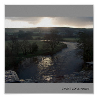 Teifi Sunset Poster